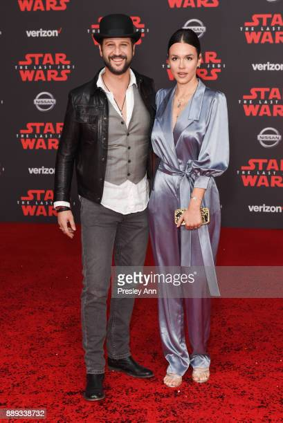 Stefan Kapicic and Ivana Horvat attend Premiere Of Disney Pictures And Lucasfilm's 'Star Wars The Last Jedi' Arrivals at The Shrine Auditorium on...