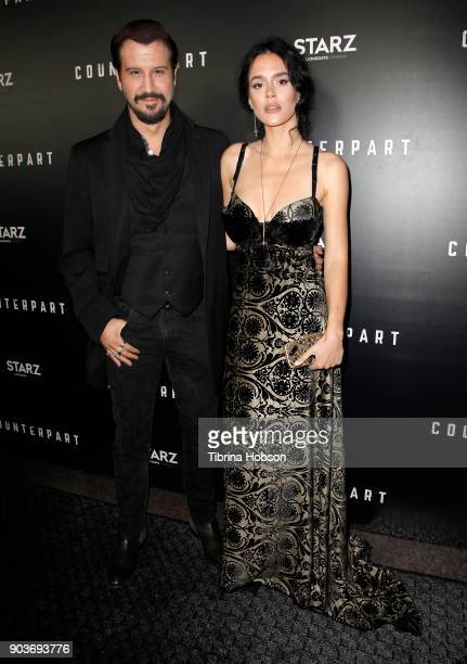 Stefan Kapicic and Ivana Horvat attend the premiere of Starz's 'Counterpart' at Directors Guild of America on January 10 2018 in Los Angeles...
