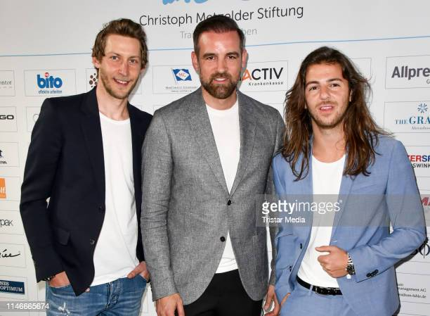 Stefan Kiessling, Christoph Metzelder and Riccardo Basile at the 11th Golf Charity Cup golf tournament at Golf- and Country Club Seddiner See on May...