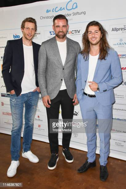 Stefan Kiessling Christoph Metzelder and Riccardo Basile during the 11th Golf Charity Cup PreGolf party at Schinkelhalle on May 26 2019 in Potsdam...