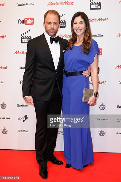 Stefan Kiwit and Alexandra Polzin attend the 99FireFilmAward 2016 at Admiralspalast on February 18 2016 in Berlin Germany