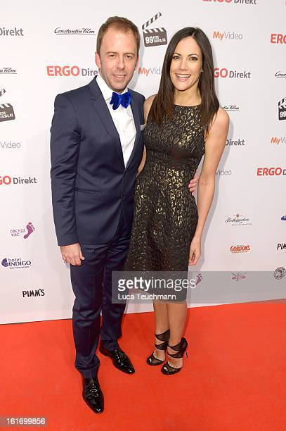 Stefan Kiwit and Bettina Zimmermann attend the 5th '99FireFilmsAward' Red Carpet Arrivals at Admiralspalast on February 14 2013 in Berlin Germany
