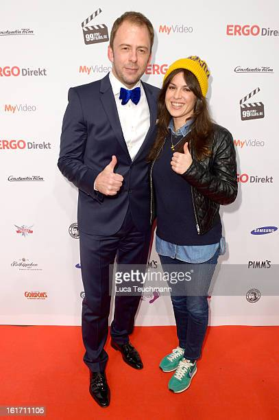 Stefan Kiwit and Natalia Avelon attend the 5th '99FireFilmsAward' Red Carpet Arrivals at Admiralspalast on February 14 2013 in Berlin Germany