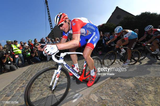 Stefan Küng of Switzerland and Team Groupama - FDJ / Paterberg / Cobblestones / Fans / Public / during the 62nd E3 Harelbeke 2019 a 203,9km race from...
