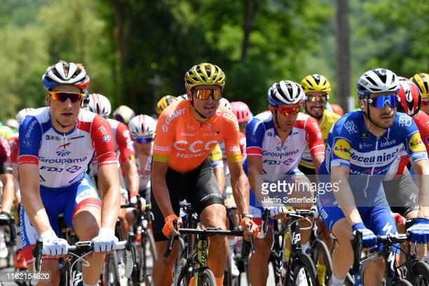 Stefan Küng of Switzerland and Team Groupama-FDJ / Greg Van Avermaet of Belgium and CCC Team / Matthieu Ladagnous of France and Team Groupama-FDJ /...