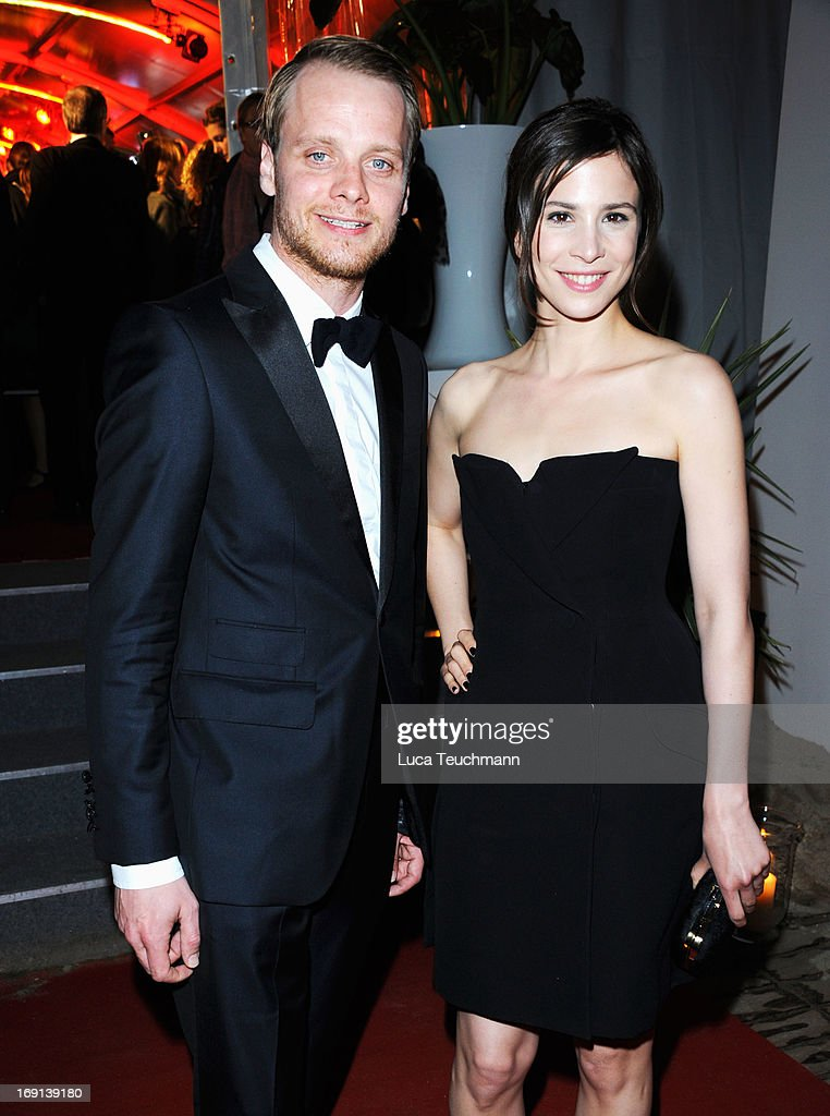Stefan Konarske and Aylin Tezel attend the German Films reception during the 66th Annual Cannes Film Festival at the Majestic Beach on May 20, 2013 in Cannes, France.