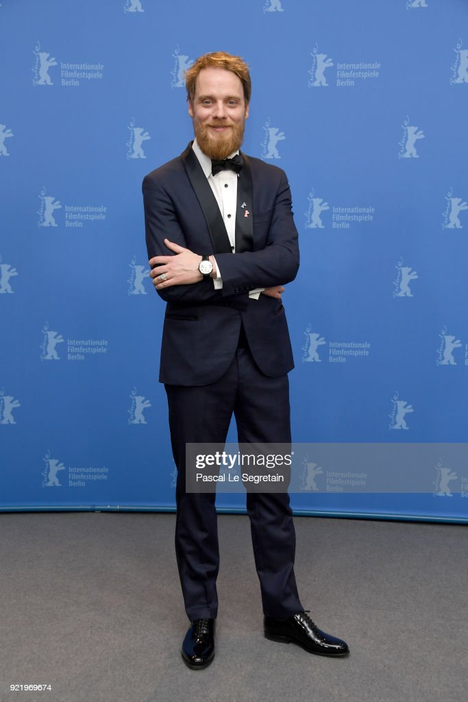 Stefan Konarske poses at the 'My Brother's Name is Robert and He is an Idiot' (Mein Bruder heisst Robert und ist ein Idiot) photo call during the 68th Berlinale International Film Festival Berlin at Grand Hyatt Hotel on February 21, 2018 in Berlin, Germany.