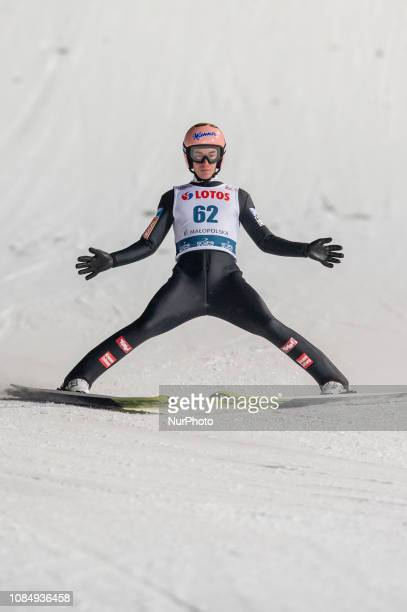 Stefan Kraft competes during qualification round on January 18 2019 in Zakopane Poland