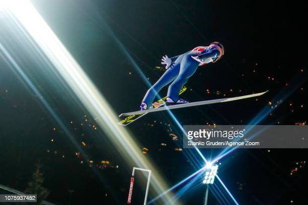 Stefan Kraft of Austria takes 3rd place during the FIS Nordic World Cup Four Hills Tournament on December 30 2018 in Oberstdorf Germany