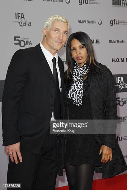 Stefan Kretzschmar and friend Maria In The IFA Opening Gala at the Palais am Funkturm in Berlin