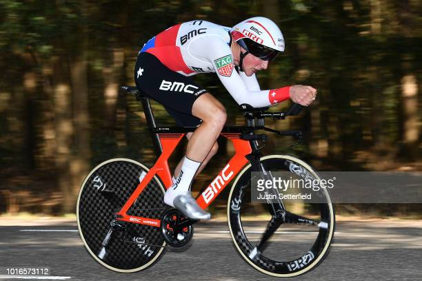 Stefan Kung of Switzerland and BMC Racing Team / during the 14th BinckBank Tour 2018 Stage 2 a 127km Individual Time Trial stage from Venray to...