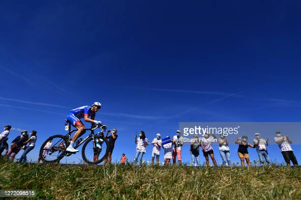 Stefan Kung of Switzerland and Team Groupama - FDJ / Col du Béal / Fans / Public / Breakaway / during the 107th Tour de France 2020, Stage 14 a 194km...