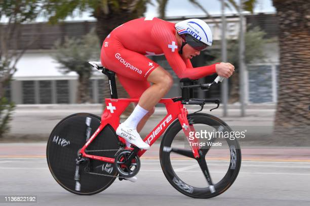 Stefan Kung of Switzerland and Team Groupama - FDJ / during the 54th Tirreno-Adriatico 2019, Stage 7 a 10,05km Individual Time Trial stage from San...