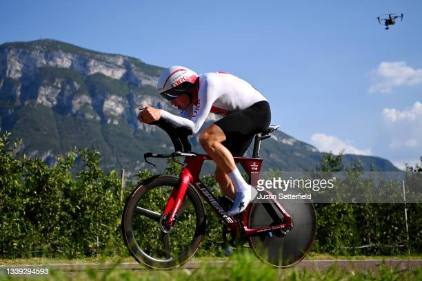 Stefan Kung of Switzerland sprints during the 27th UEC Road Cycling European Championships 2021 - U23 Men's Individual Time Trial a 22,4km race from...