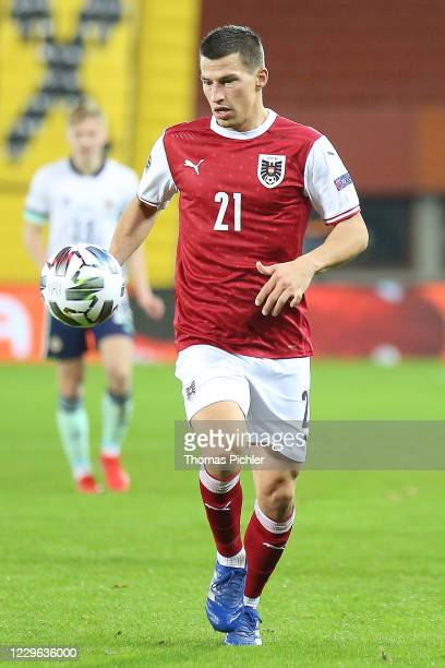 Stefan Lainer of Austria have the ball during the UEFA Nations League between Austria and Northern Ireland at the Ernst Happel Stadion on November 15...