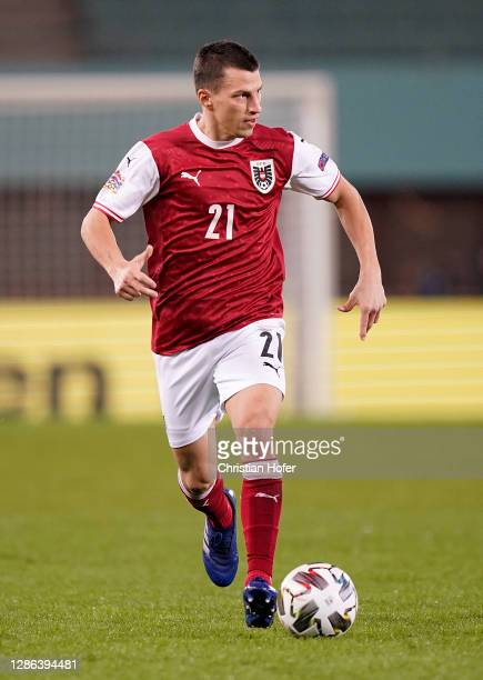 Stefan Lainer of Austria runs with the ball during the UEFA Nations League group stage match between Austria and Norway at Ernst Happel Stadion on...