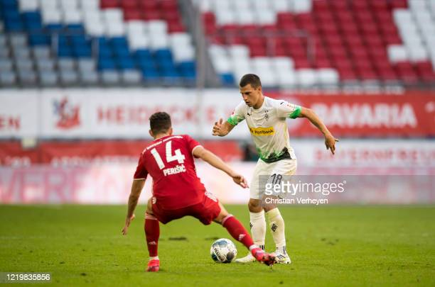 Stefan Lainer of Borussia Moenchengladbach in action during the Bundesliga match between FC Bayern Muenchen and Borussia Moenchengladbach at Allianz...