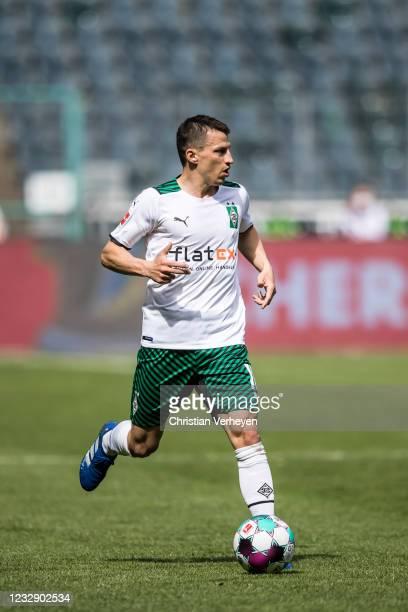 Stefan Lainer of Borussia Moenchengladbach in action during the Bundesliga match between Borussia Moenchengladbach and VfB Stuttgart at Borussia-Park...