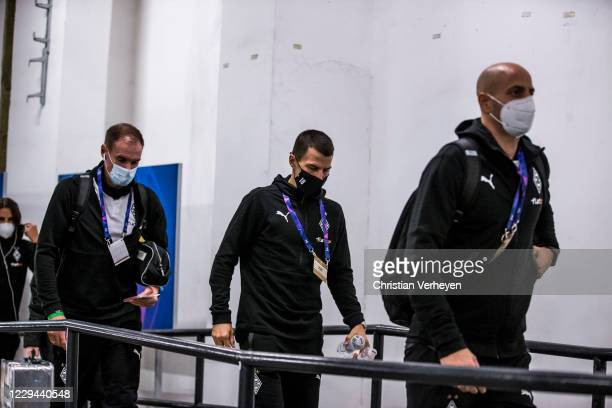 Stefan Lainer of Borussia Moenchengladbach is seen before the Group B - UEFA Champions League match between Shakhtar Donetsk and Borussia...