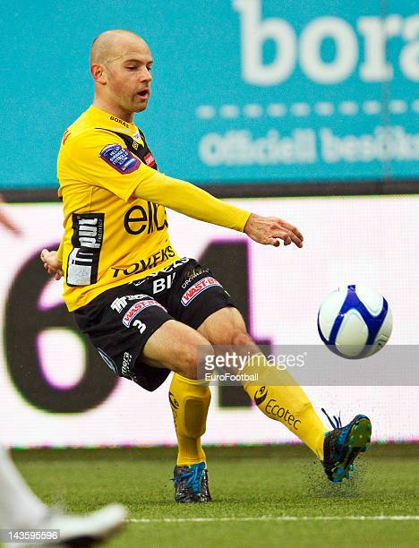 Stefan Larsson of IF Elfsborg in action during the Swedish Allsvenskan League match between IF Elfsborg and GAIS Goteborg held on April 26 2012 at...