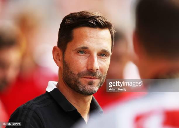Stefan Leitl head coach of Ingolstadt 04 during the Second Bundesliga match between SSV Jahn Regensburg and FC Ingolstadt 04 at Continental Arena on...