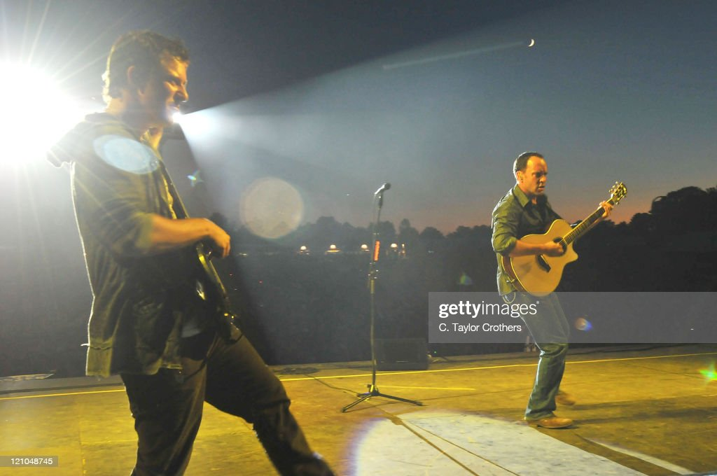 Stefan Lessard and Dave Matthews of Dave Matthews Band perform at The Odeum during Rothbury 2008 on July 5, 2008 in Rothbury, Michigan.