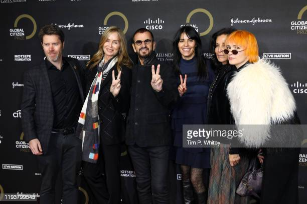 Stefan Lessard Barbara Bach Ringo Starr Olga Segura and guests attends the 2019 Global Citizen Prize at the Royal Albert Hall on December 13 2019 in...