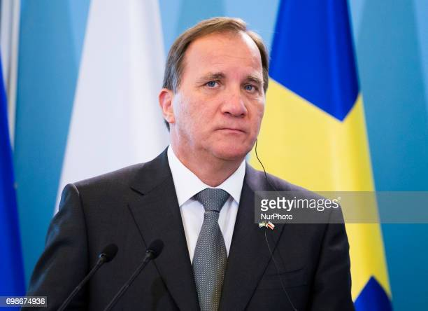 Stefan Lofven on statements for media after meeting of Polish and Sweden Prime Minister in Warsaw 20 June Poland