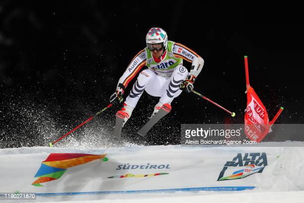 Stefan Luitz of Germany competes during the Audi FIS Alpine Ski World Cup Men's Parallel Giant Slalom on December 23, 2019 in Alta Badia Italy.