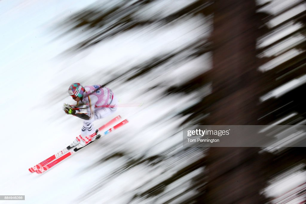 Stefan Luitz of Germany competes in the Audi Birds of Prey World Cup Men's Giant Slalom on December 3, 2017 in Beaver Creek, Colorado.