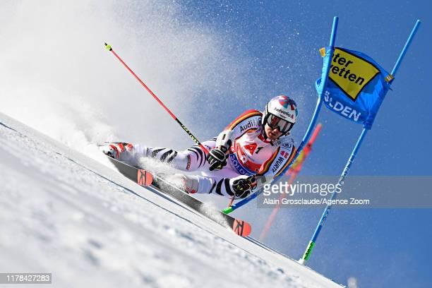 Stefan Luitz of Germany in action during the Audi FIS Alpine Ski World Cup Men's Giant Slalom on October 27, 2019 in Soelden, Austria.