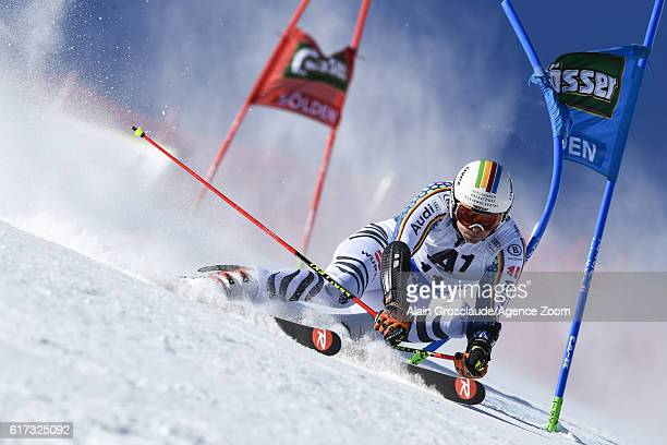 Stefan Luitz of Germany in action during the Audi FIS Alpine Ski World Cup Men's Giant Slalom on October 23 2016 in Soelden Austria