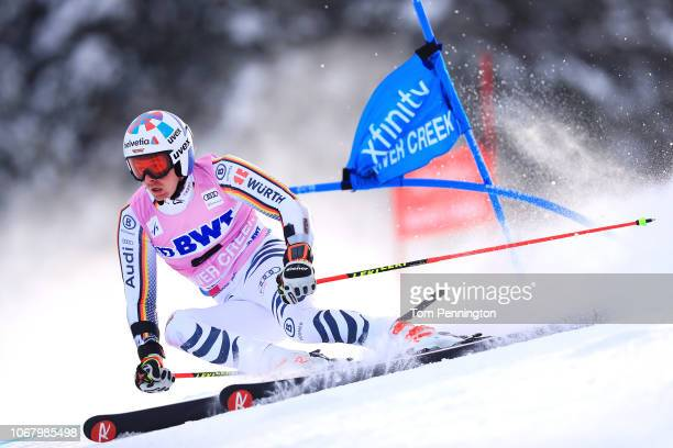 Stefan Luitz of Germany skis the first run of the Audi FIS Alpine Ski World Cup Men's Giant Slalom on December 2 2018 in Beaver Creek Colorado