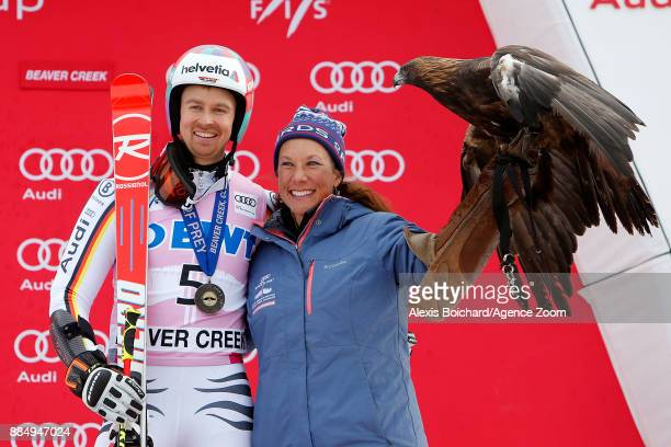 Stefan Luitz of Germany takes 3rd place during the Audi FIS Alpine Ski World Cup Men's Giant Slalom on December 3 2017 in Beaver Creek Colorado