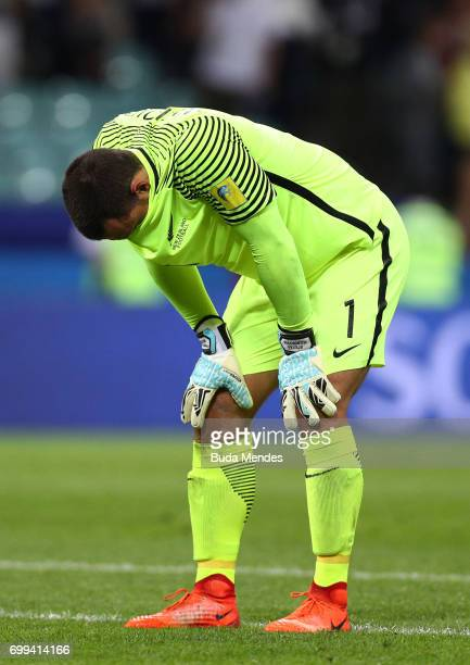 Stefan Marinovic of New Zealand looks dejected after the FIFA Confederations Cup Russia 2017 Group A match between Mexico and New Zealand at Fisht...