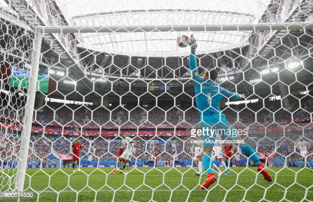 Stefan Marinovic of New Zealand makes a save during the FIFA Confederations Cup Russia 2017 Group A match between New Zealand and Portugal at Saint...