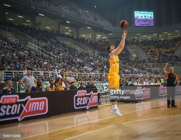 Stefan Markovic of BC Khimki in action during the tournament Pavlos Giannakopoulos between Panathinaikos and Khimki at Athens Olympic Indoor Hall