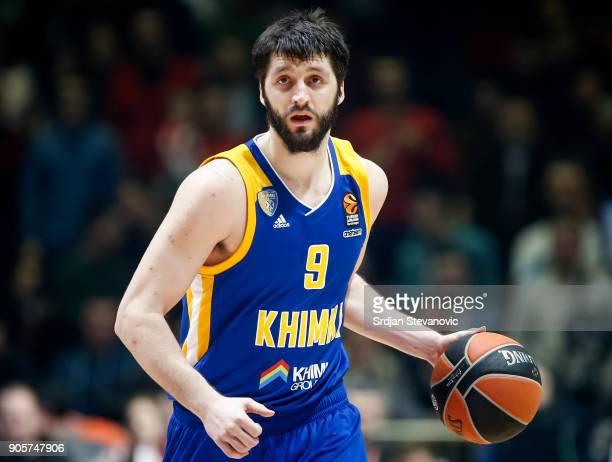 Stefan Markovic of Khimki in action during the 2017/2018 Turkish Airlines EuroLeague Regular Season Round 18 game between Crvena Zvezda mts Belgrade...