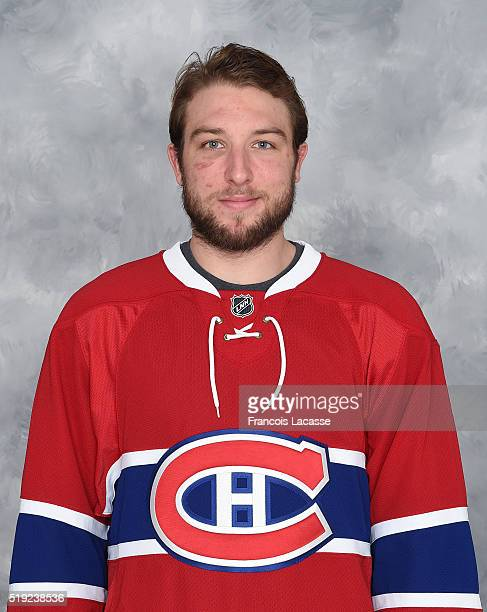Stefan Matteau of the Montreal Canadiens poses for his official headshot for the 20152016 season on March 8 2016 at the Bell Sports Complex in...