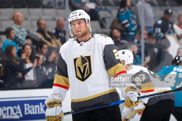 Stefan Matteau of the Vegas Golden Knights skates against the San Jose Sharks at SAP Center on September 21 2017 in San Jose California