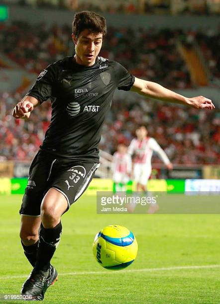 Stefan Medina of Monterrey controls the ball during the 8th round match between Necaxa and Monterrey as part of the Torneo Clausura 2018 Liga MX at...