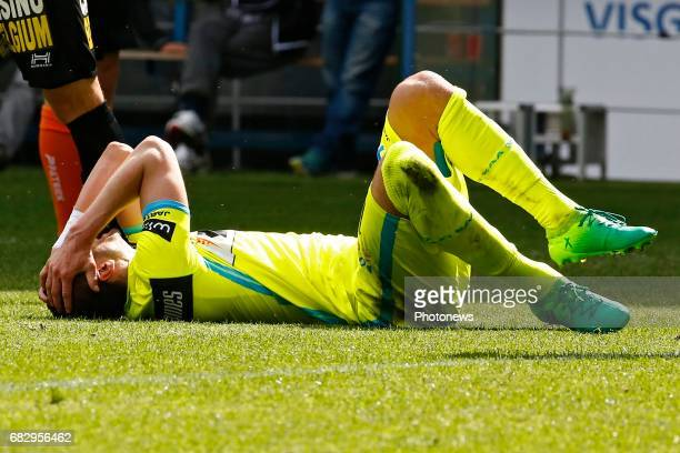 Stefan Mitrovic defender of KAA Gent pictured during the Playoffs 1 Jupiler Pro League match between KAA Gent and Sporting Charleroi on May 14 2017...