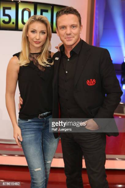 Stefan Mross and his girlfriend AnnaCarina Woitschack attend the 22nd RTL Telethon on November 24 2017 in Huerth Germany