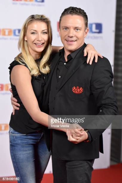 Stefan Mross and his girlfriend AnnaCarina Woitschack attend the RTL Telethon 2017 on November 24 2017 in Huerth Germany