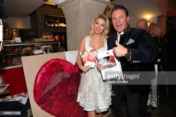 Stefan Mross and his girlfriend AnnaCarina Woitschack during the Christmas Charity Dinner hosted by StefanMross AnnaCarinaWoitschack and Connections...