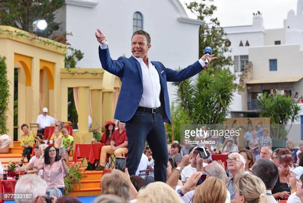 Stefan Mross during the ARD live tv show 'Immer wieder sonntags' at EuropaPark on June 17 2018 in Rust Germany