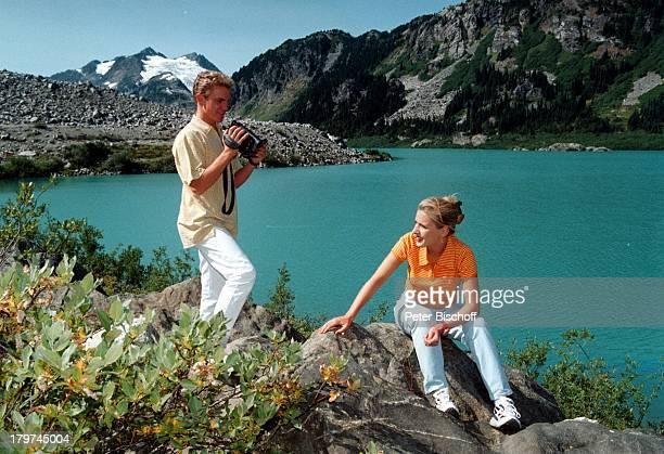 Stefan Mross mit Stefanie Hertel,;Whistler/Kanada, Urlaub,