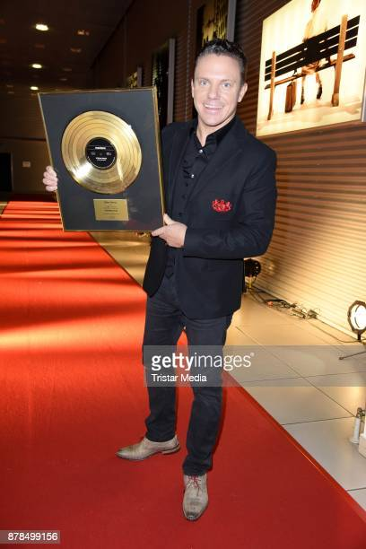 Stefan Mross with his first golden record attends the RTL Telethon 2017 on November 24 2017 in Huerth Germany