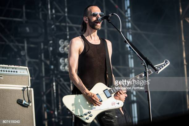 Stefan Olsdal bassist of the band Placebo in concert at Firenze Rocks Festival Florence Italy 23rd June 2017