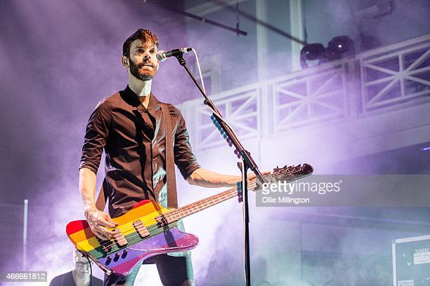 Stefan Olsdal of Placebo performs at O2 Academy Birmingham on March 17 2015 in Birmingham England